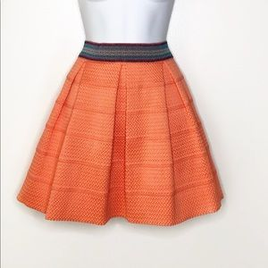 DINA BE Coral structured pleat skirt